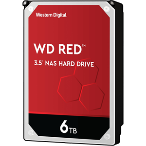 "WD Red WD60EFRX 6 TB 3.5"" Intern Harde schijf - SATA - 5400rpm - 64 MB buffer"