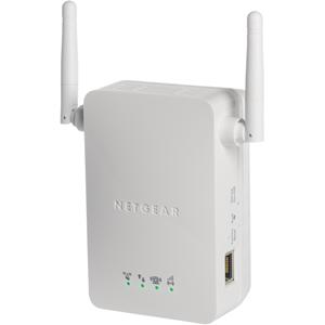 Netgear WN3000RP IEEE 802.11n 300 Mbit/s Wireless range-extender - ISM-band - 2 x Antenne(s) - 2 x External Antenna(s) - 1 x Network (RJ-45) - Op muur monteerbaar