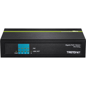 TRENDnet TPE-TG50g 5 poorten Ethernetswitch - 2 Layer Supported - Bureaublad - 3 Jaar Limited Warranty