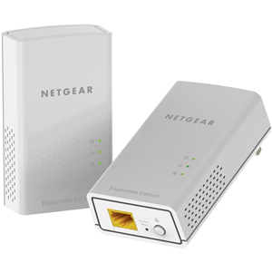 Netgear PL1000 Powerline netwerkadapter - 2 - 1 x Netwerk (RJ-45) - 1000 Mbit/s Powerline - 500 m² Dekking - HomePlug AV2 - Gigabit Ethernet