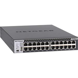 Netgear ProSafe M4300-24X 24 poorten Beheer mogelijk L3 switch - 24 Netwerk, 4 Expansieslot - Modulair - Twisted-pair, Optische vezel - 4 Layer Supported - 1U hoog