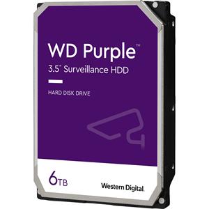 """WD Purple WD60PURZ 6 TB 3.5"""" Intern Harde schijf - SATA - 5400rpm - 64 MB buffer"""