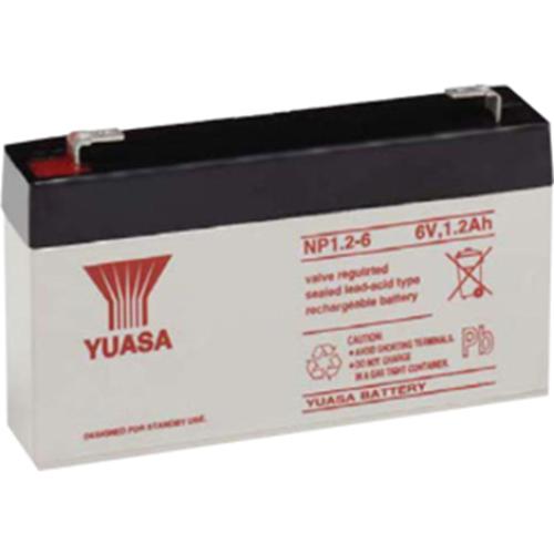 Yuasa NP1.2-6 Multifunctioneel Batterij - 1200 mAh - Gesloten lood (SLA) - 6 V DC - Oplaadbare batterij