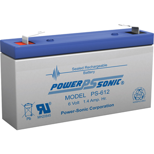 Power-Sonic PS-612 Multifunctioneel Batterij - 1400 mAh - Gesloten lood (SLA) - 6 V DC - Oplaadbare batterij