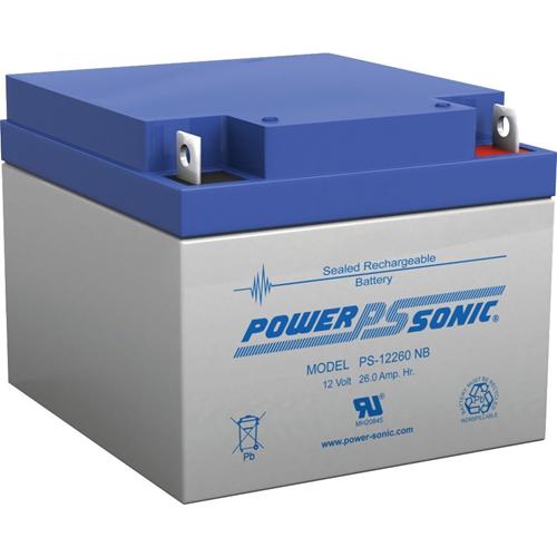 Power-Sonic PS-12260 Algemene doeleinden Batterij - 26000 mAh - Gesloten lood (SLA) - 12 V DC - Oplaadbare batterij