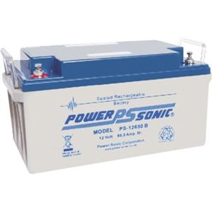 Power-Sonic PS-12650 Multifunctioneel Batterij - 65000 mAh - Gesloten lood (SLA) - 12 V DC - Oplaadbare batterij