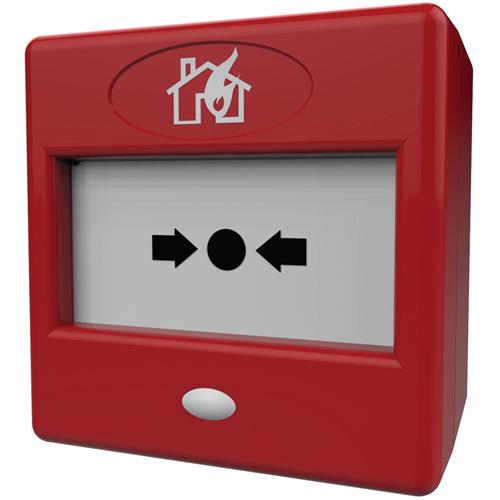 FireBrand FP3/RD Drukknop Voor Brandalarm - Rood - Plastic, Glas