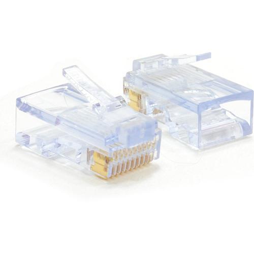 W Box Goud gegalvaniseerd Netwerkconnector - 100 verpakking - 1 x RJ-45 Heren Netwerk