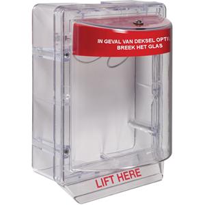STI Stopper II Beschermkap voor Brandalarm - School, College, Ziekenhuis, Hotel, Bouw - Polycarbonaat - Rood