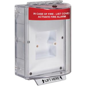 STI STI-13610FR Beschermkap voor Bedieningspaneel brandmelder - Indoor, Outdoor - Bestand tegen vandalisme, Schadebestendig, Sabotagebestendig, Stofbestendig, Waterbestendig, Vuilbestendig - Polycarbonaat - Rood
