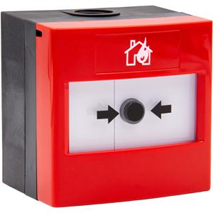 STI WRP2-R-11 Handmatig oproeppunt Voor Binnen/buiten, Fabriek, Brandalarm, School - Rood - Plastic, Glas, Polycarbonaat