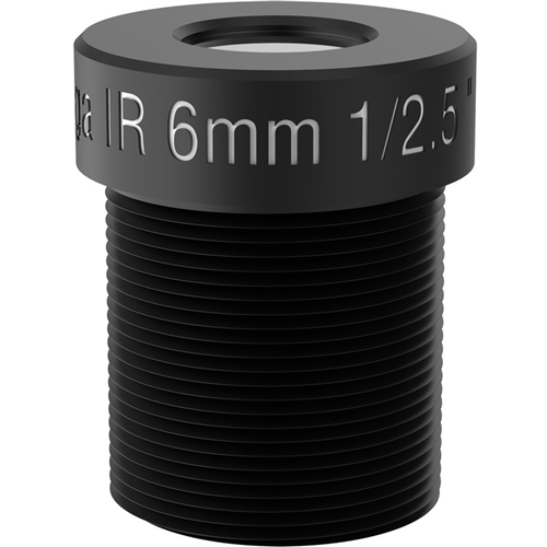 AXIS - 6 mm - f/2 - Vaste brandpuntafstand Lens voor M12-bajonet - Ontworpen voor Surveillance camera