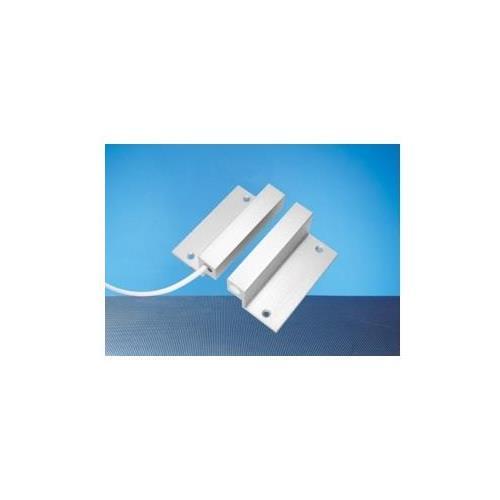 Contact magnetique à montage en applique Elmdene aluminium avec etrier d'angle