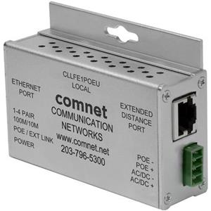 Ethernet monocanal via UTP avec IEEE 802.3at 30W Mode PoE Pass-Through ou Mode Injection PoE local, 10 / 100Mbps, Industriel,
