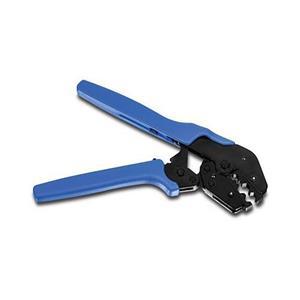 Conçu pour sertir les câble coaxiaux RG58/59/62/6 Solide poignée caoutchoutée pour une meilleur prise en main Mécanisme de blocage avec le