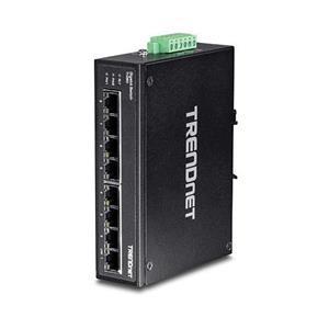 8 ports Gigabit Ethernet Capacité de commutation de 16 Gb/s Switch métallique renforcé de classe IP30 Fixations rail DIN et murales fourni