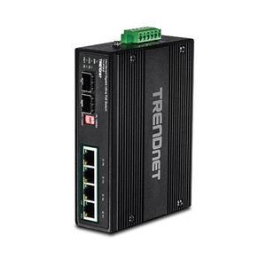4 ports Gigabi Ultra PoE 2 logements SFP dédiés Capacité d'alimentation de 240 watts Capacité de commutation de 12 Gb/s Switch métallique