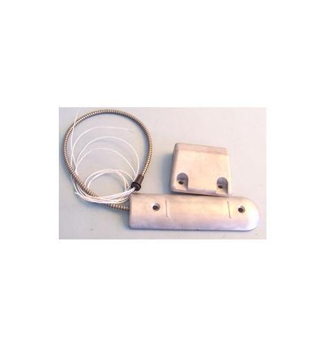 Elmdene RSC Kabel Magnetisch contact - 55 mm Spleet - voor Deur, Rolluik - Oppervlakbevestiging - Zilver