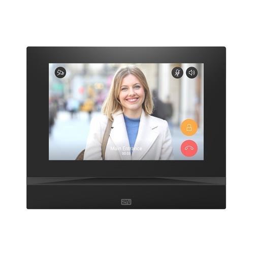 "2N indoor view moniteur, écran tactile 7"" HD, video ecran total, noir"