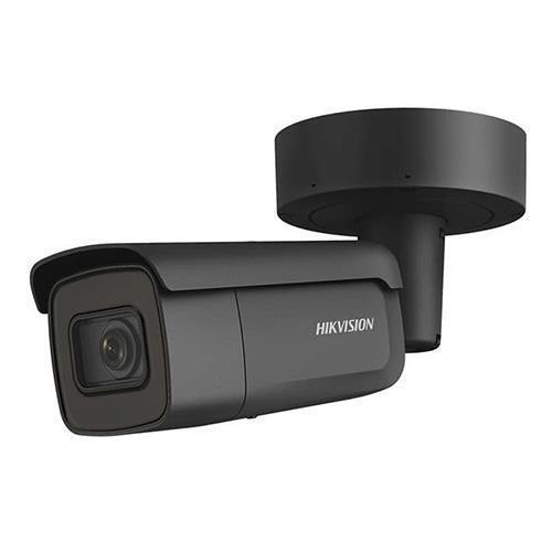 HikVision Caméra tube IP extérieure varifocale NOUVEAU, Noir 4MP 2.8-12mm MZF EXIR 50m