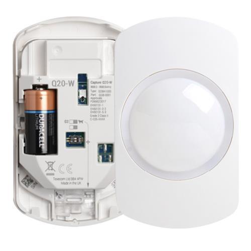 Texecom Capture Wireless 20m Quad Wall Mount PIR Sensor Ricochet Technology