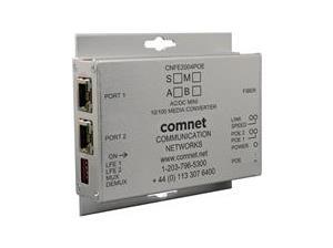 Convertisseur de médias 2 canaux 2 ports 10 / 100Tx RJ45 Avec PoE + (30W IEEE 802.3at) 1 port 100Fx Multimode 1 fibre A côté connecteur SC